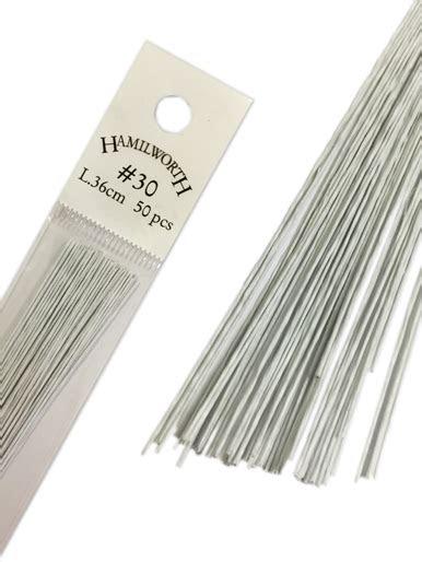 floristry cake wire hamilworth sugarcraft white sizes