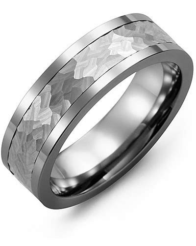 Men's Hammer Effect Wedding Ring   MADANI Rings