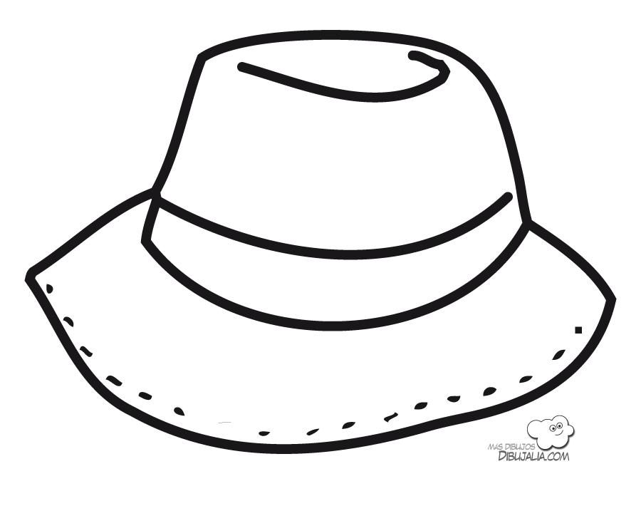Sombrero Dibujalia Dibujos Para Colorear Elementos Y Objetos