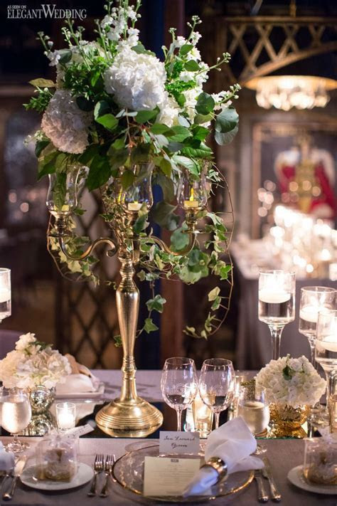 French Romance, gold and white mirror table top table