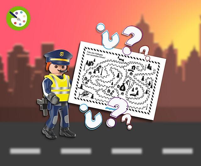 playmobil swat ausmalbilder  berittenes polizeipferd