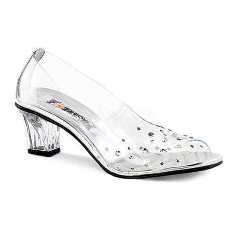 Clear Cinderella Elsa Princess Glass Slippers Bridal