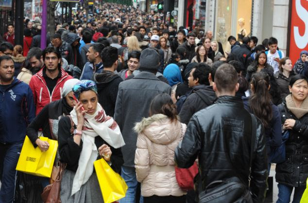 White Britons are now a minority in the country's capital with 620,000 leaving in a decade