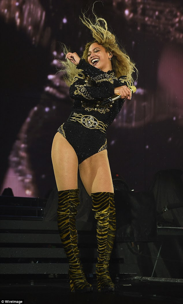 Risque: The 7/11 singer later rocked a look that was in-keeping with the name of her Formation world tour as she slipped into a military style playsuit
