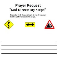 God Directs My Steps Prayer Request Printable