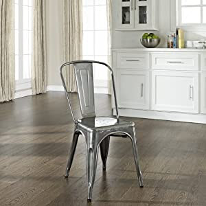 Amazon.com - Crosley Furniture Amelia Metal Cafe Chair in ...