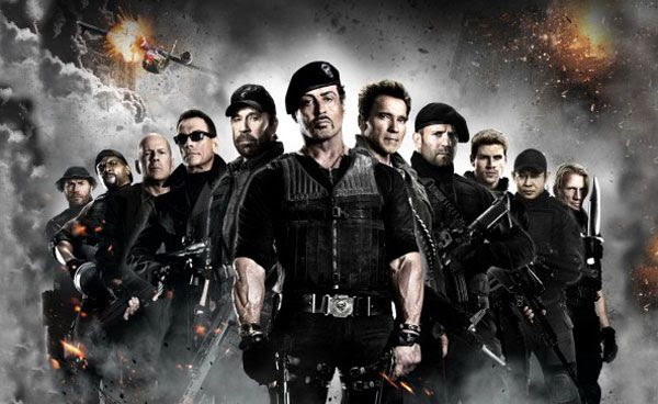 The cast of THE EXPENDABLES 2.