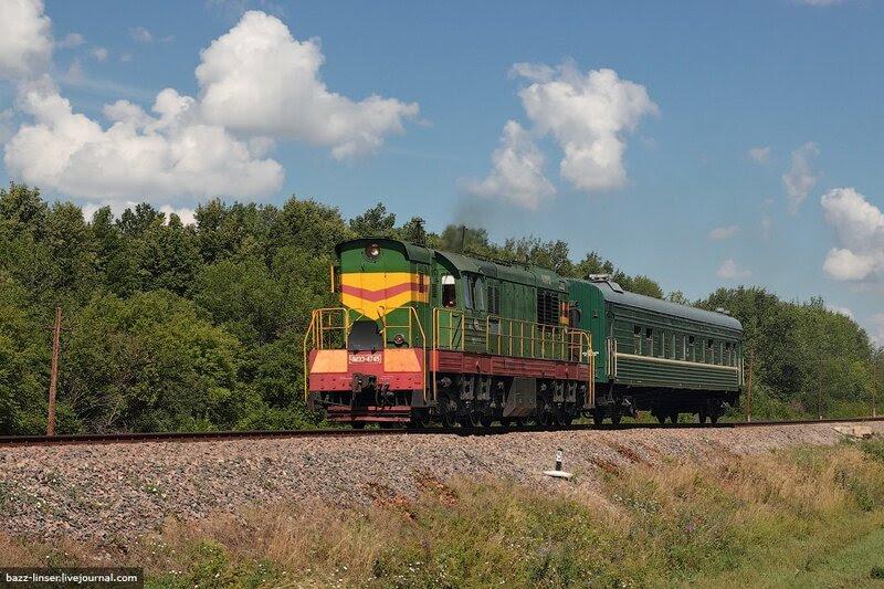 Пригородный поезд Лев Толстой - Куликово Поле