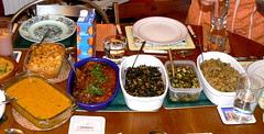Vegetarian Indian Potluck dinner