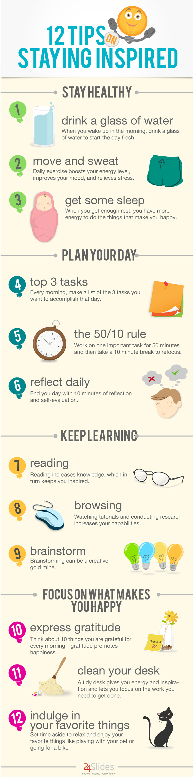 Infographic: 12 Tips On Staying Inspired