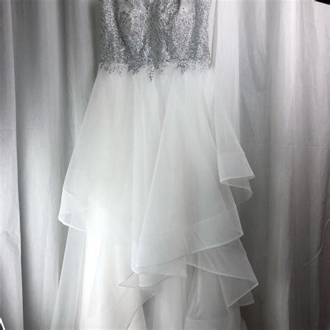 White Sheer Tulle Horsehair Detailed Top with Skirt Bridal