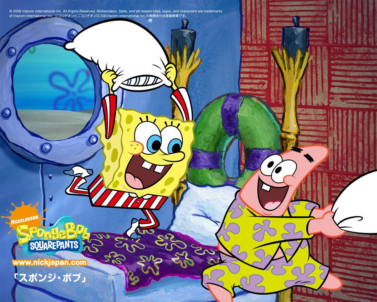 Spongebob Squarepants Pillow Fight Wallpapers Image