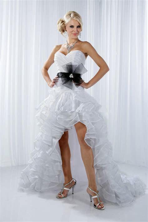 Online Get Cheap White Short Front Long Back Satin Dress