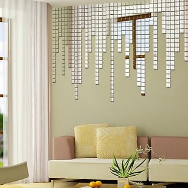 Best Mirror Decals For Walls Shapes Wall Stickers Mirror Wall