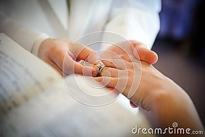 Wedding exchange instead of rings