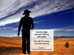 Cowboy Walking Silhouette Yard Art Woodworking Pattern - fee plans from WoodworkersWorkshop® Online Store - cowboys,rodeo,ranchers,cowhands,cattleman,yard art,painting wood crafts,drawings,plywood,plywoodworking plans,woodworkers projects,workshop blueprints