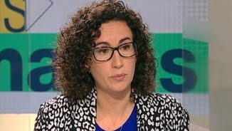 """Marta Rovira, al plató d'""""Els matins"""""""