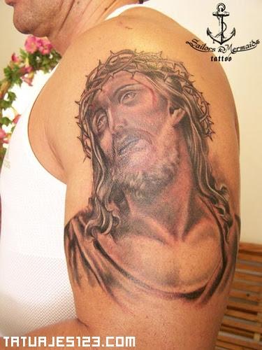 Jesús Y La Corona De Espinas Tatuajes 123
