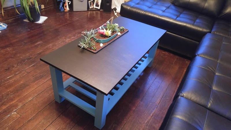 Парень смастерил своей подруге журнальный столик с настоящим мини-садом сад, своими руками, стол