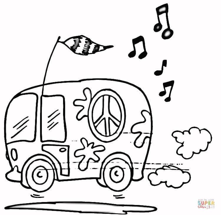 volkswagen busje kleurplaat