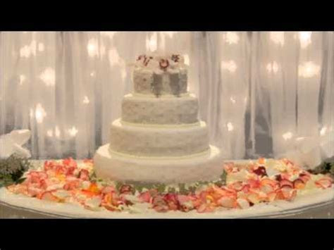 Ideas for wedding cake table decorations   YouTube
