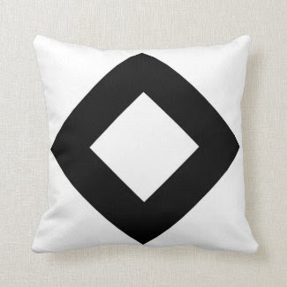 White and Black Diamond Pattern Pillows