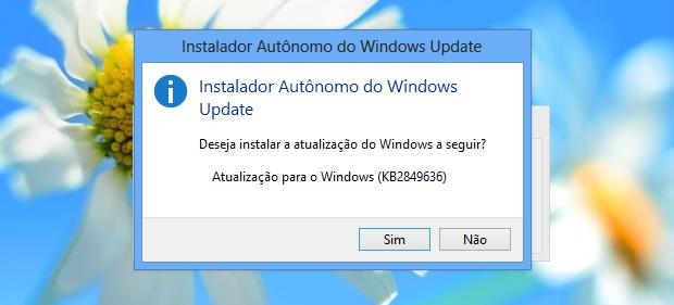 Confirmando instalação do update (Foto: Reprodução/Helito Bijora)