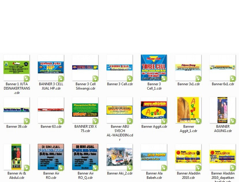 Banner Promosi Makanan Cdr - contoh desain spanduk