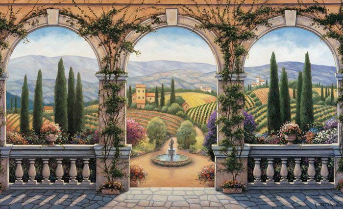 Tuscan Mural for either our entry way or dining room.
