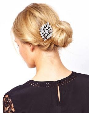 Image 1 ofASOS Jewel Hair Brooch