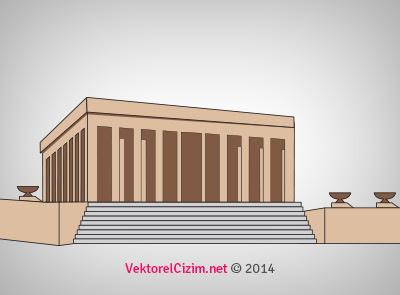Vektörel çizim 10 Kasım Anıtkabir