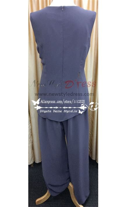 Plus size mother of the bride pant suit with jacket