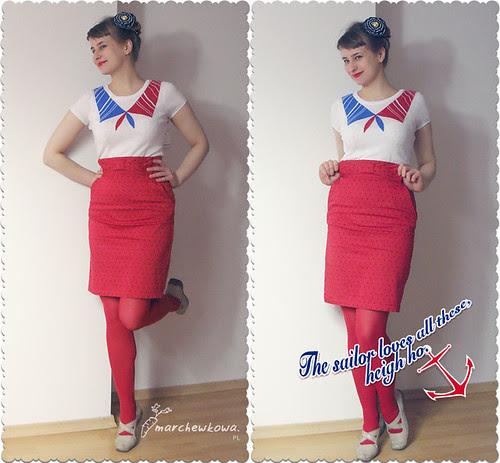 szafiarka, blog szafiarski, Sailor Stork, pin-up, retro, styl marynarski