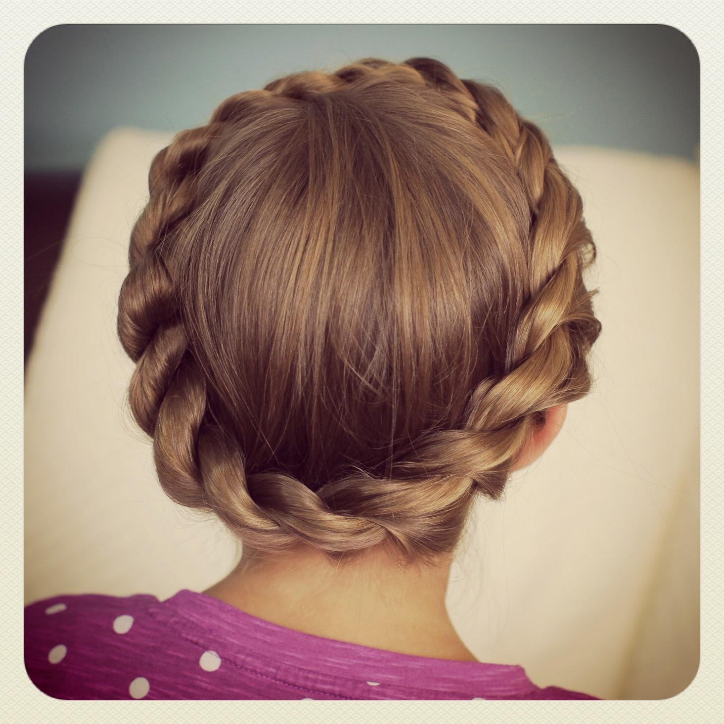 Crown Rope Twist Braid Updo Hairstyles Cute Girls Hairstyles