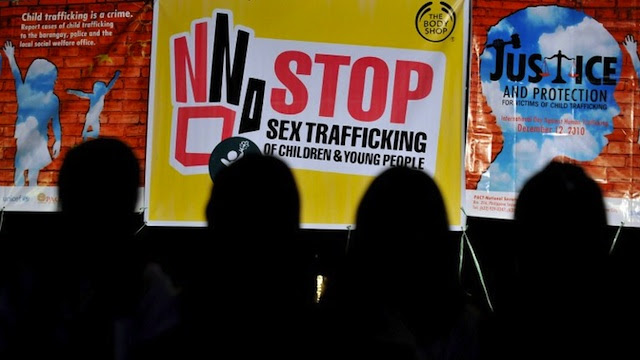 HUMAN TRAFFICKING. Filipino children, some of whom fall prey to pedophiles worldwide, campaign against the sex trade. File photo from AFP
