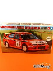 Tamiya: Maqueta de coche escala 1/24 - Mitsubishi Lancer Evo VI Ralli Art Nº 1 - Tommi Makinen + Risto Mannisenmäki - Rally de Nueva Zelanda 1999 - maqueta de plástico