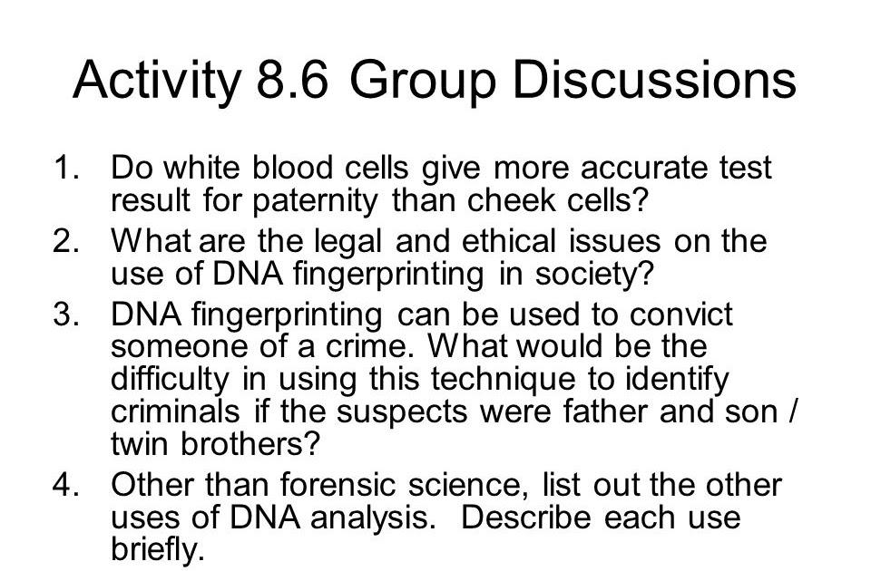 Dna Fingerprint Analysis Worksheet Answer Key - DNA Informasi