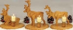 Reindeer Candles Woodworking Plan - fee plans from WoodworkersWorkshop® Online Store - reindeer,candles holders,full sized patterns,woodworking plans,woodworkers projects,blueprints,drawings,blueprints,how-to-build,MeiselWoodHobby