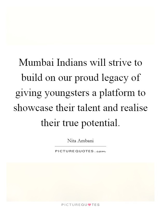 Mumbai Indians Will Strive To Build On Our Proud Legacy Of