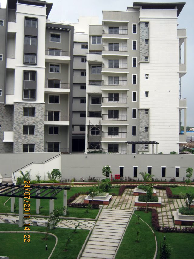 "Podium Garden at Sobha Carnation - on the day of launch of ""Sobha Garnet - 3 BHK & 4 BHK Flats"" - off NIBM Road -  at Kondhwa - Pune"