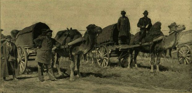 Gróf Zichy Jenő expedíciója a Kuma parti Madzsar városhoz közeli ásatásoknál /Vasárnapi Újság 1895/