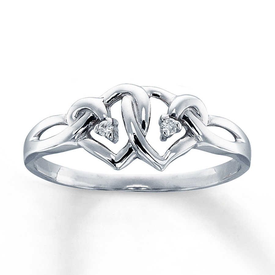 White Gold Necklace Kay Jewelers Heart Ring