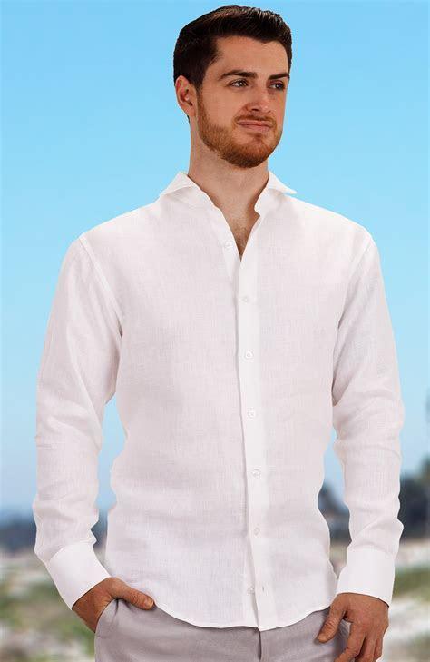 Beach Wedding Shirts for Men, Linen, Long or Short Sleeve