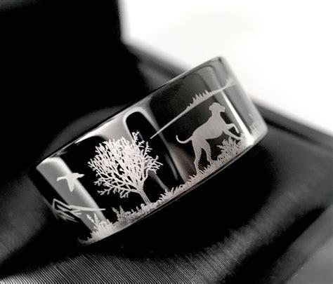Duck Hunting Ring, Fisherman Ring, Duck Band Wedding Ring