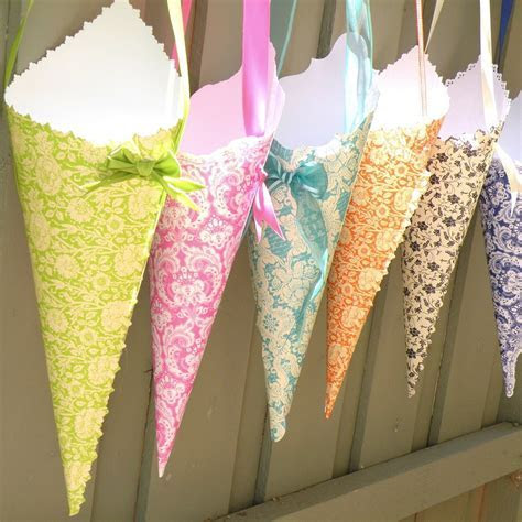 A Woman's Haven: Crafternoon Inspiration: Paper Cones
