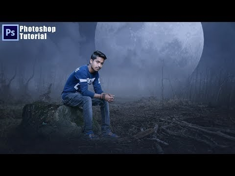 Photoshop Tutorial | Boy Sitting on the tree | dreamy effects photoshop