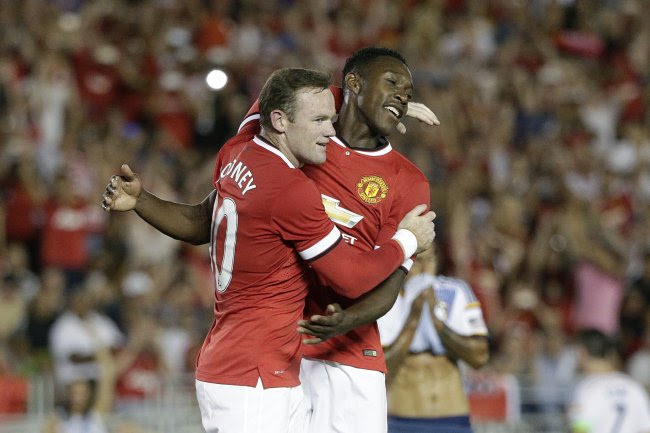 Manchester United, Wayne Rooney, Danny Welbeck, red jersey