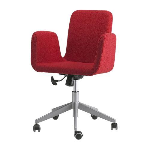 PATRIK Swivel chair - Fagrabo red - IKEA