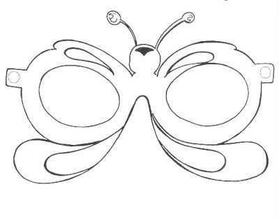 Yeni Yıl Partisi Maske Ve Gözlük Kalıpları Okul öncesi Etkinlik