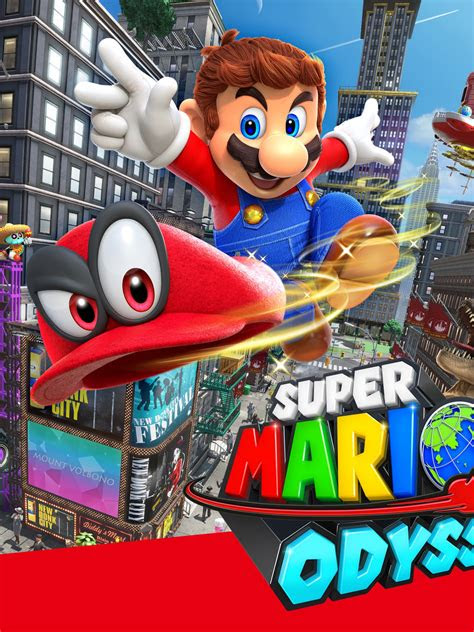 wallpaper super mario odyssey cappy mario  games